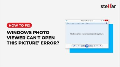 How to Fix 'Windows Photo Viewer can't open this Picture' error?