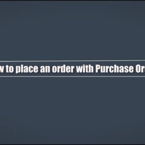 How to place an order with Purchase Order