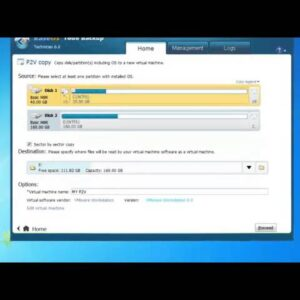 Physical to Virtual(P2V) Migration with EaseUS Todo Backup